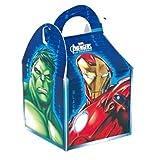 Marvel Avengers Kästchen Lizenzprodukt Party für Kinder Kids Food Beute Lunch Geschenk Geburtstag Box Staubbeutel multi