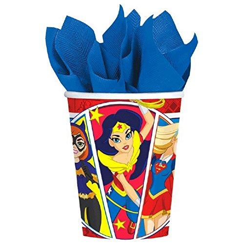 amscan-international-581609-266-ml-dc-super-heros-filles-paper-cup