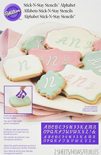 Wilton Stick und Stay Schablonen Alphabet, Acryl, Mehrfarbig, 3-teilig Wilton Cookie Stick