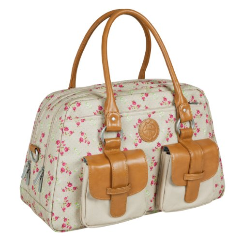 Lässig Vintage Metro Bag Wickeltasche/Babytasche inkl. Wickelunterlage Twill, choco Rosebud Fairytales