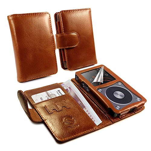 tuff-luv-funda-cartera-de-piel-genuino-vintage-para-fiio-x5-2nd-gen-marron