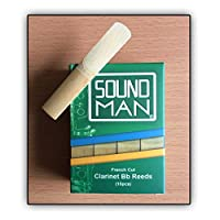 Clarinet Reeds Cane Student Soundman® 10 pcs Reed for Bb Clarinets French Cut (Strength: 1.5)