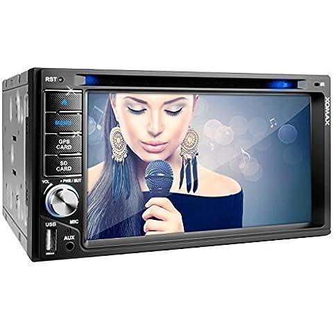 XOMAX 2DTSBN6216 radio de coche / Moniceiver reproductor multimedia / naviceiver con GPS + NAVIGATION software incluye mapas de Europa (38 países) + Bluetooth manos libres + 6,2