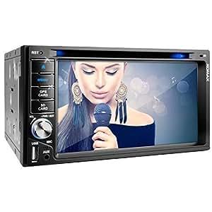 """XOMAX XM-2DTSBN6216 Autoradio / Moniceiver / Naviceiver con navigatore GPS + Software Polnav + Funzione vivavoce Bluetooth con importazione rubrica telefonica + Display touch screen 6,2"""" / 15,7 cm, HD, 800 x 480 px, 16:9 + Porta USB / Slot per schede Micro SD (fino a 128 GB) + Riproduzione multimediale: MPEG4, MP3, WMA, AVI, DivX, ecc + Ingresso per telecamera retromarcia + Ingresso per comandi al volante uscita subwoofer + Dimensioni standard 2DIN + Telecomando, plancia, mascherina inclusi"""
