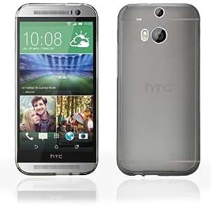 Bestwe Grau TPU Schutzhülle Hülle für HTC One M8 TPU Case