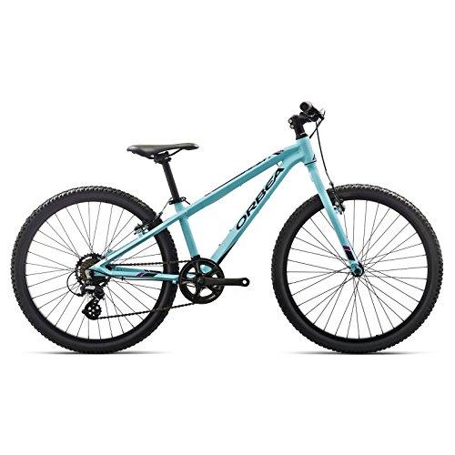 Orbea MX 24 Zoll Dirt Kinder Fahrrad 7 Gang MTB Rad Aluminium Mountain Bike, I015, Farbe blau