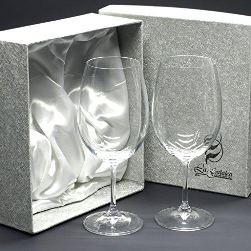 la galaica Set/Étui de 2 Coupes en Verre pour à vin ou à Eau, Collection CRISTALLIN.