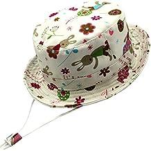 Langzhen Bébé Chapeau de Soleil Coton Imprimé Anti-uv Protection Bonnet de  Plage Pêche Voyage 0b05fb6818a