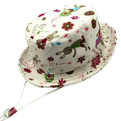 ad387ddde590f Langzhen Sombrero Pesca de Cubo Gorro de Copa Plano Bebé Gorra Niñas Hat  Bucket Toddler Ajustable