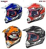 RX-962 Crosshelm Quad Cross Enduro Motocross Offroad Helm rueger, Größe:L (59-60), Farbe:Orange V/RCK