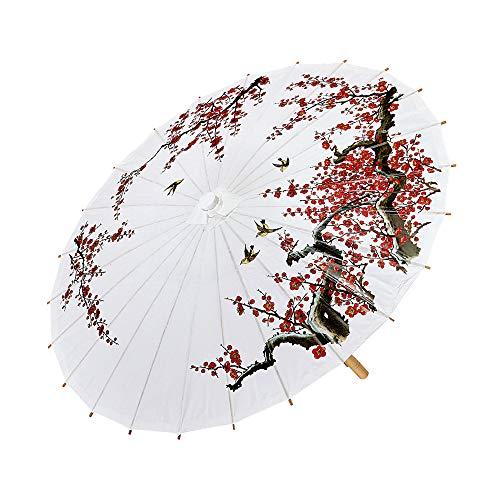 Widmann 66785 - Sonnenschirm aus Reispapier (Asiatische Kostüm Schmuck)
