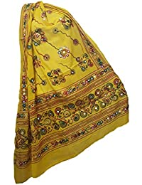 Skhoza Cotton Printed/embroidered Dupatta For Women