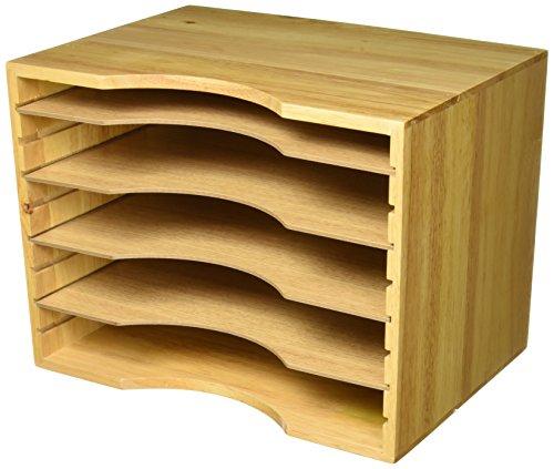Safco Holzsortierer, stapelbar helle eiche (Bins Spielzeug Stapelbar)