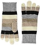 United Colors of Benetton Gloves, Guanti Donna, Fantasia Paisley-Base Bianco/Blu, Unica (Taglia Produttore: OS)