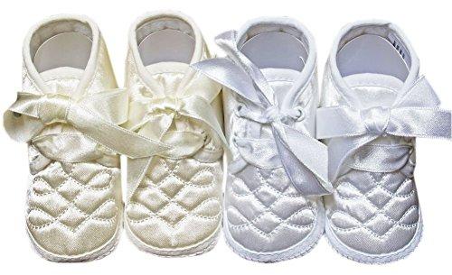 ORIGINMENSWEAR , Baby Jungen Krabbelschuhe & Puschen Silberfarben elfenbeinfarben UK 1-3 Months elfenbeinfarben