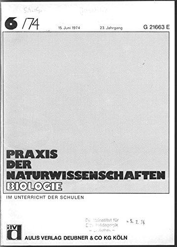 Dytiscus marginalis: Sind die Haftscheiben der Männchen zur Begattung notwendig?, in: PRAXIS DER NATURWISSENSCHAFTEN, BIOLOGIE, 6/1974. - Praxis-männchen