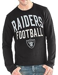"""Oakland Raiders G-III NFL """"Ringer"""" Men's Long Sleeve Thermal shirt Chemise"""