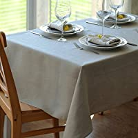 Linen & Cotton Tovaglia da Tavola In Stoffa Lino Naturale ANABELLA - 100% Lino (147 x 250cm)