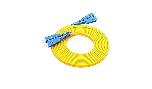 C/âble Fibre Optique LC vers LC Singlemode Simplex 2,0/mm//3.0/mm Diam/ètre ext/érieur 9//125/Fibre Optique Patch Cord 6m 2.0mm