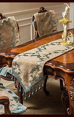 ADDMAT® Chemin de Table Vert table de velours runner Arts Nouveau tissu de table café lit drapeau table de toile cirée doubles , A , 33*220cm