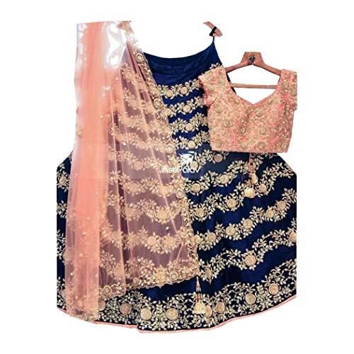 AMIT FASHIONS Exklusive indische Designer Semi Stitch Lehenga Choli für Frauen Lehenga Designer