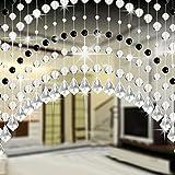 Shage Kristallglas Perlen Vorhang Luxus Wohnzimmer Schlafzimmer Fenster Tür Hochzeit Dekor (G)