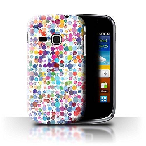Stuff4 Custodia/Cover/Caso/Cassa Rigide/Prottetiva Stampata con Il Disegno Moda Inverno per Samsung Galaxy Mini 2/S6500 - Punti Colorati
