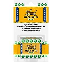 TIGER BALM WEISS/Natürlicher Balsam bei Erkältungsbeschwerden & zur Förderung der Hautdurchblutung/Einreibung mit hochwertigen ätherischen Ölen/1 x 19,4 g
