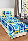 #10: Home Elite 120 TC 100% Cotton Multicolor Printed 1 Single Bedsheet with 1 Pillow Cover