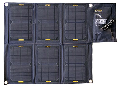 XTPower SP36 - Solarpanel mit 36Watt - zwei Ausgänge mit DC Rundstecker 18V 1,65A und USB 5V 2A