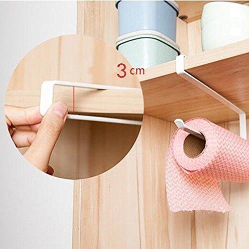 Trifycore porta asciugamani di carta cucina basso gabinetto carta archiviazione una mano (nero)