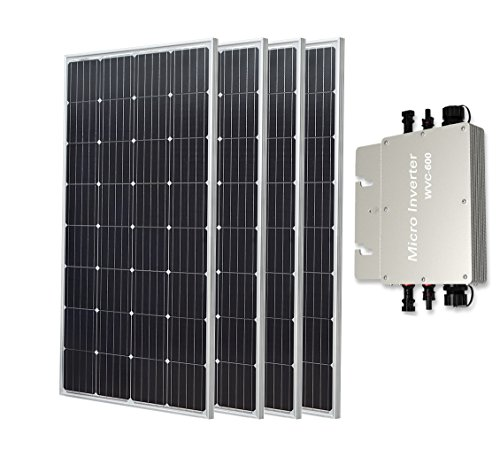 600W auf Grid Tie Solar Panel System enthalten 4150W Mono Solarzellen und 22–50V auf 110V/220V Wasserdicht Micro Inverter für Home Backup Power Supply (Solar Pv Tie Grid)