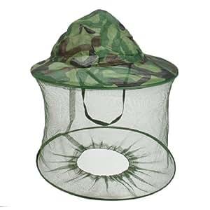 Capuche pliable de filet Anti-mouches pour casquette Camouflage vert militaire