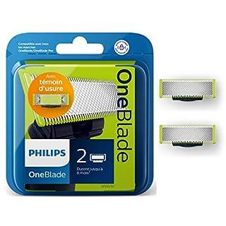 Philips QP220/50 Lames de Remplacement x2 OneBlade (durent jusqu'à 8 mois) (B01B1NVD2I) | Amazon Products