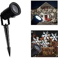 Muoversi fiocco di neve decorazione per luce LED Lans Cape, all' aperto giardino Spotlight fiocco (Rot Laser)