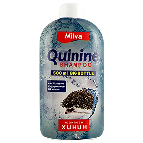 Milva 500ml Chinin-Power Shampoo für schnelleres Haarwachstum - Reduziert Schuppen, fördert...