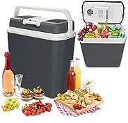 Hengda 24 litres Glacière Électrique Portable Mini Réfrigérateur Poignée de Transport Chaud/Froid [Classe éner
