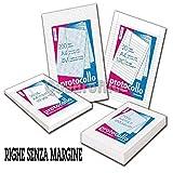 RISMA FOGLI PROTOCOLLO A RIGHE SENZA MARGINE 21X29 CM 60 GR 200 FF