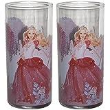 2 x Kinderglas Dancing Princess Glas Wasserglas Kinder Saftglas