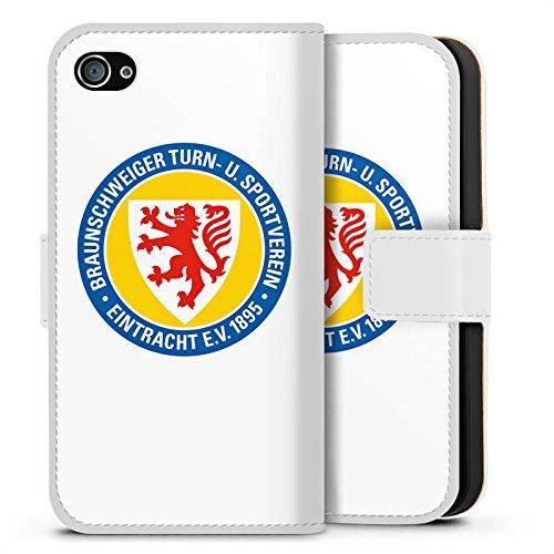 Apple iPhone X Silikon Hülle Case Schutzhülle Eintracht Braunschweig Fanartikel BTSV Fußball Sideflip Tasche weiß