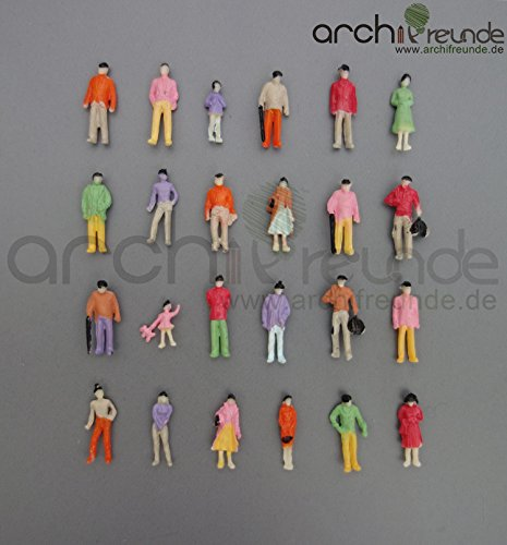 100x Modell Stehende Figuren-Menschen Handbemalt 1:100 Spur TT - Typ B Modellbahn-figuren
