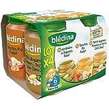 Bledina Pots Sales Lot 4X200G - jard leg boeuf tom riz poul colin 6 mois - ( Prix Unitaire ) - Envoi Rapide Et...