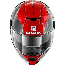 Casco SHARK HE4740EDRWM : SPEED-R 2 CARBON SKIN color CARBON ROJO BLANCO talla M