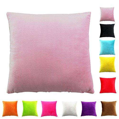 Easondea federa per cuscino fodere per cuscini cuscino copridivano divano letto home decorazione auto federa di lusso rosa chiaro 70x70cm