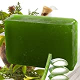 Lass Naturals Aloe Vera Soap with 9 Herb...