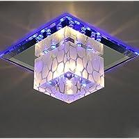 BBSLT LED di natale, quadrato e corridoi, corridoi, soffitto, ingresso, soggiorno, Crystal lampada da soffitto (18*18*10cm* blu)