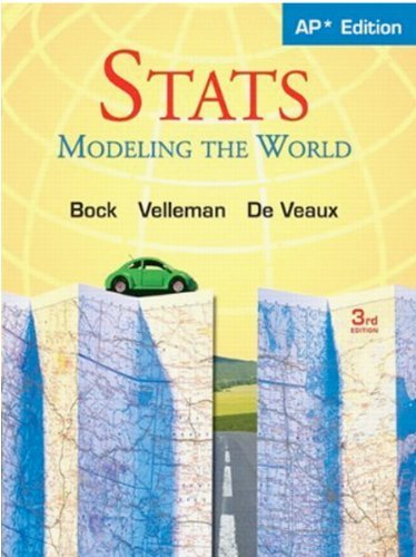 Stats: Modeling the World Nasta Edition Grades 9-12 by David E. Bock (2009-01-22)
