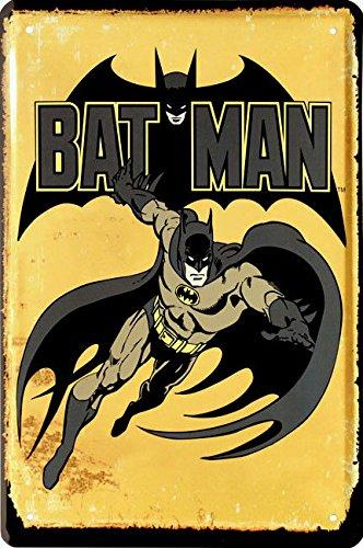 Blechschild 20x30 cm Batman US Comic Superheld Filmplakat Werbung Metall (Superhelden Schild)