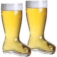 2 litri per birra, in vetro, a forma di bicchiere