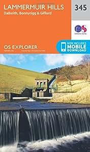 OS Explorer Map (345) Lammermuir Hills (OS Explorer Paper Map) (OS Explorer Active Map)